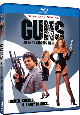 Blu-ray Cover for Mill Creek Entertainment's GUNS, directed by Andy Sidaris.