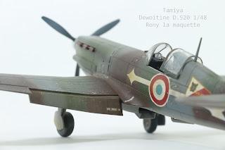 Dewoitine D.520 de Tamiya au 1/48.