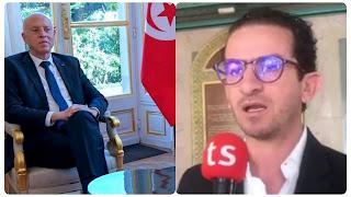 بالفيديو أسامة الخليفي : قيس_سعيد  هو أحسن رئيس جمهورية جاء لتونس وزيارتو لفرنسا ناجحة وحكی على بلادو بالباهي