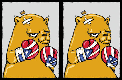 "The Bear Champ ""Puerto Rican Flavor"" Screen Print by JC Rivera x All Star Press Chicago"