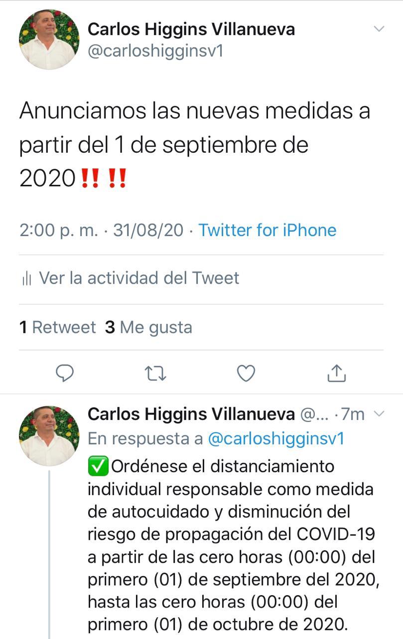 Alcaldía de Juan de Acosta dispone de nuevas medidas a partir del 1 de Septiembre
