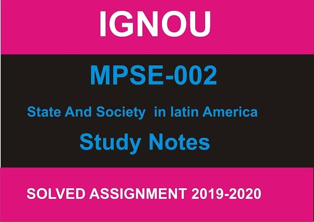 MPSE 002 Study Notes