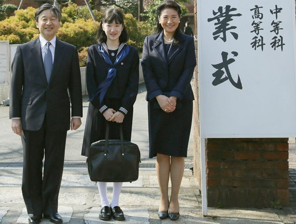 Crown Prince Naruhito and Crown Princess Masako attend graduated at the Gakushuin Girls School for Princess Aiko