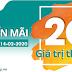 VIettel khuyến mãi tặng 20% giá trị thẻ nạp ngày 14/02/2020
