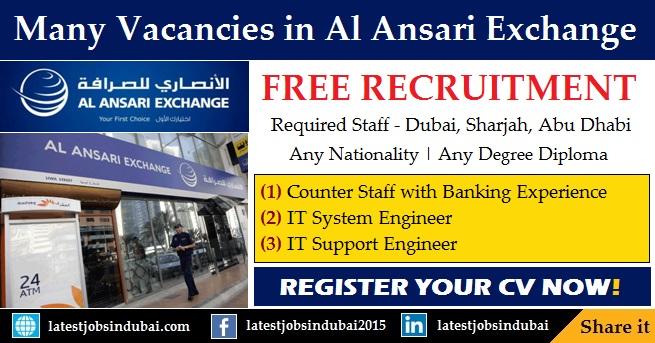Al Ansari Exchange careers and job vacancies in Dubai