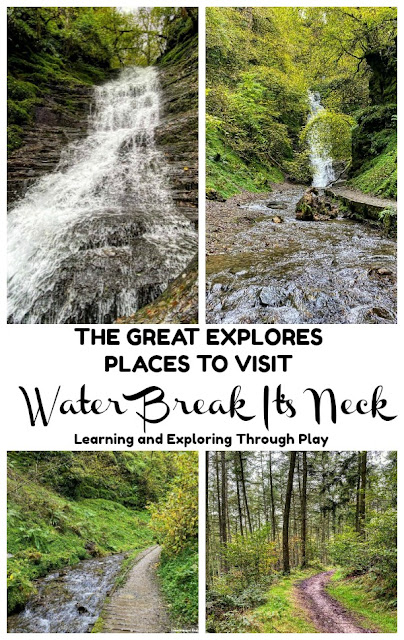 Water Break Its Neck Waterfall - Family Days Out. Places to visit in the UK.