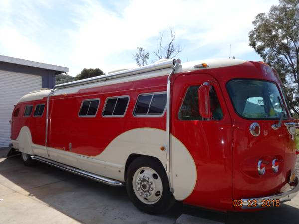 Used rvs 1946 flxible clipper bus for sale by owner for Motor city party bus