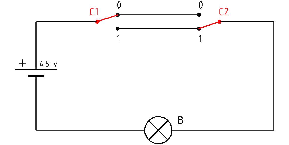 Circuito Que Tenga Un Interruptor Una Pila Y Una Bombilla : Tecnología º e s o circuito eléctrico conmutado