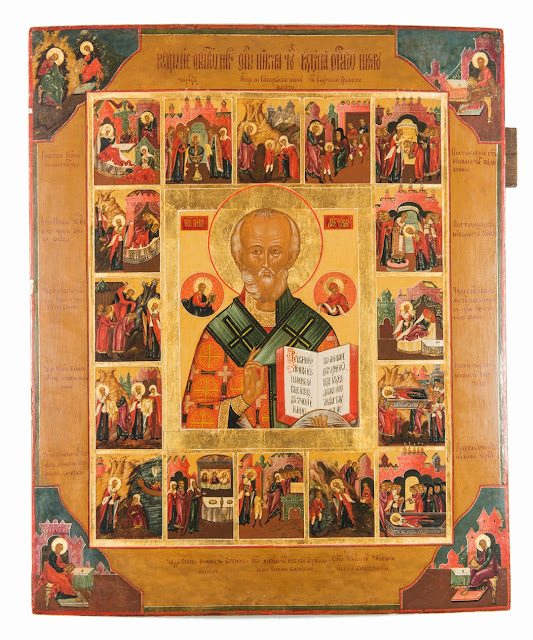Russian Icon of St. Nicholas, The Archbishop of Myra