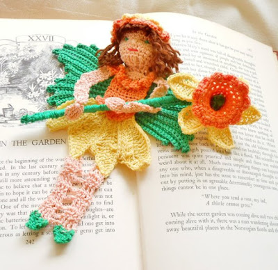 Daffodil Fairy - Bookmark or Decoration - Handmade Crochet By Anderson Creations on Etsy