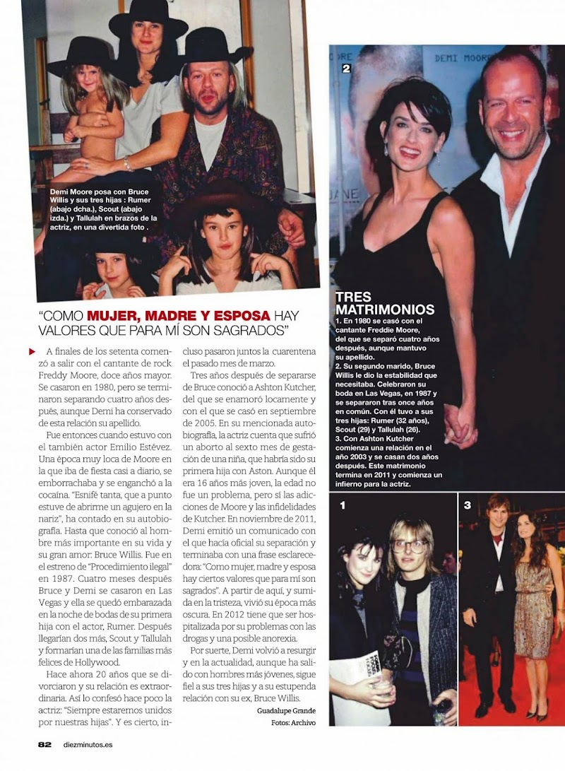 Demi Moore Clicked in Diez Minutos Magazine - Spain November 2020