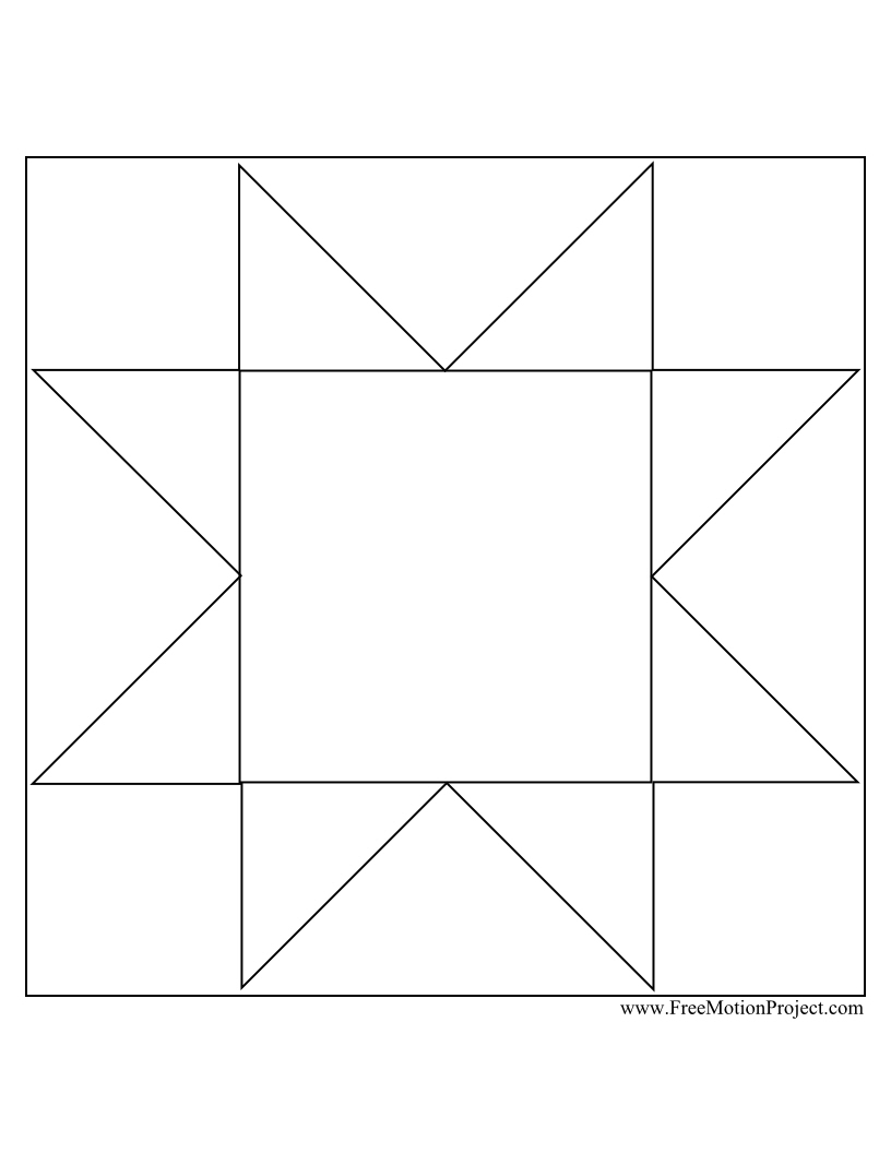 quilt coloring page - the free motion quilting project quilt along 5