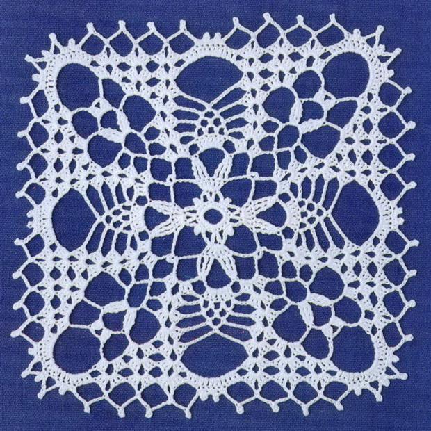 Crochet lace - Crochet square -  Square motif