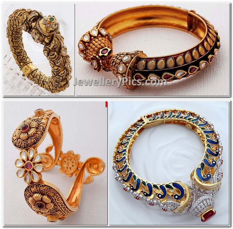 Gold Kada Collection By Kalyan Jewellers
