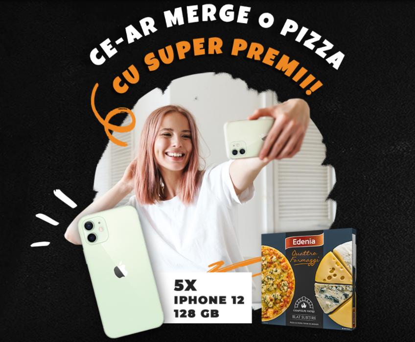 Concurs Pizza Edenia - Castiga 5 telefoane iPhone 12 - 2021 - castiga.net