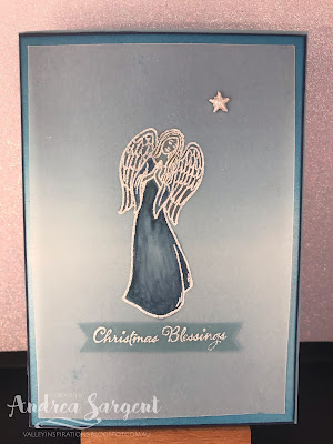Stampin Up, Andrea Sargent, Art with Heart, Heart of Christmas, 2019, Blog Hop, Blends, Colouring Techniques, Roller technique, heat embossing, vellum