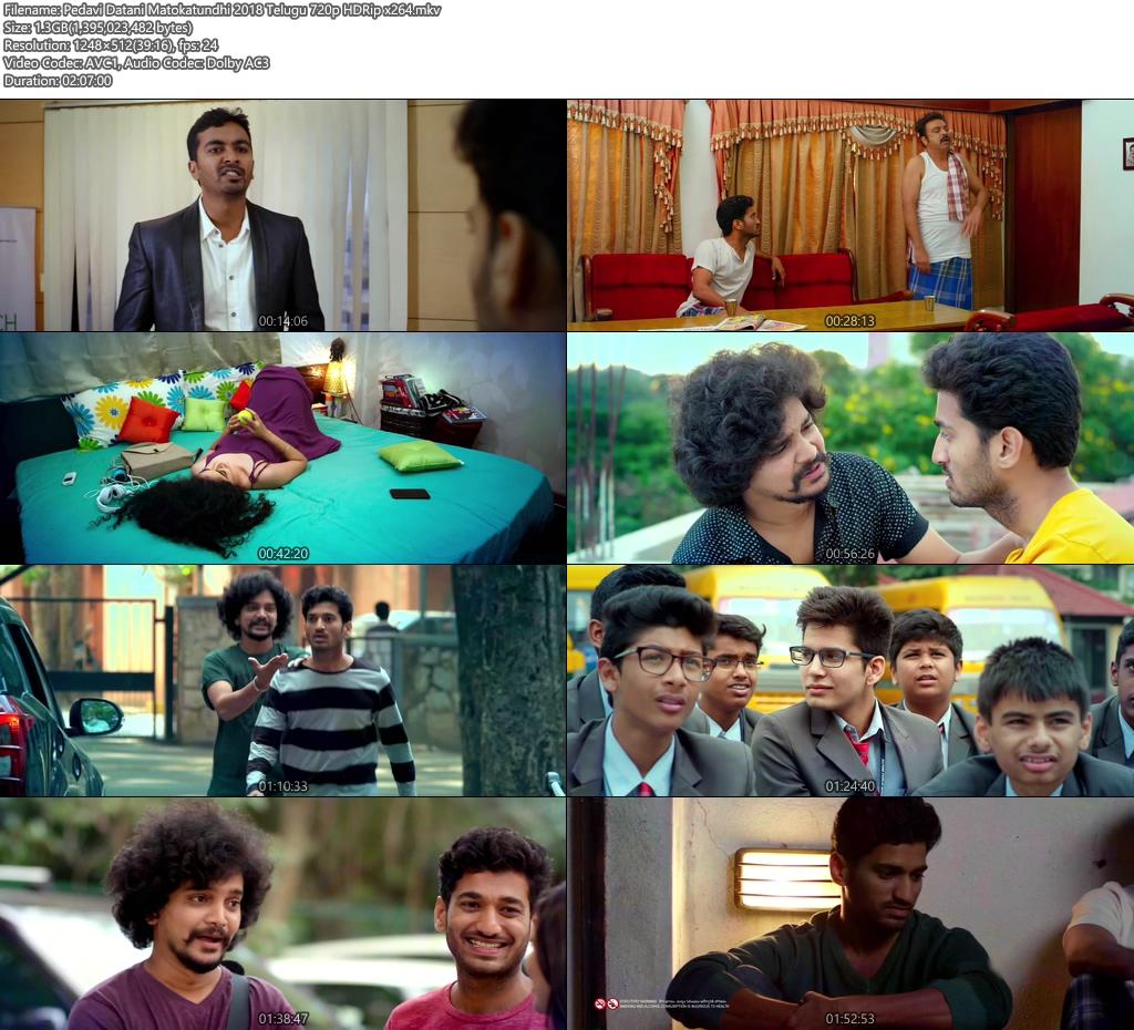 Pedavi Datani Matokatundhi 2018 Telugu 720p HDRip x264 | 480p 300MB | 100MB HEVC Screenshot