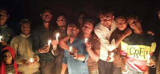 एनएसयूआई द्वारा पुलवामा में शहीद हुए जवानों को श्रद्धांजलि दी