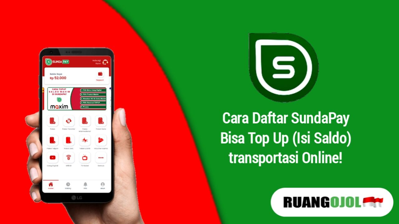 Cara Daftar Akun SundaPay, Bisa Top Up Saldo Ojek Online!