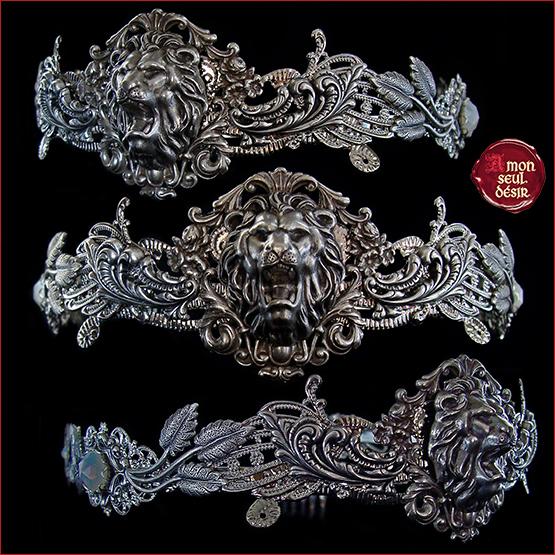 couronne médiévale lion argent renaissance Aslan Lannister Hear Me Roar