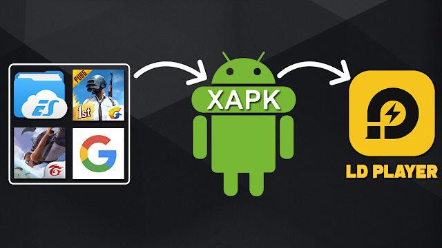 تثبيت التطبيقات والألعاب بصيغة xapk على محاكي الاندرويد الرائع ld player