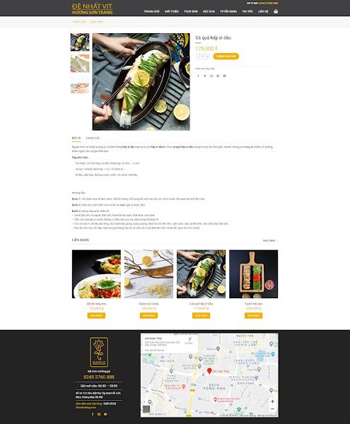 Theme blogspot dành cho nhà hàng quán ăn