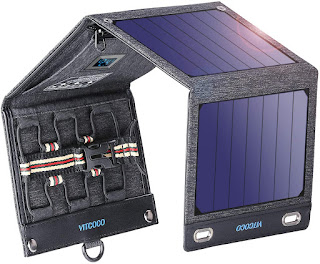 16W Solar Panel Charger with 2 USB Ports