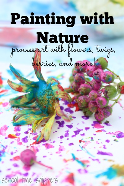 process painting for kids with nature