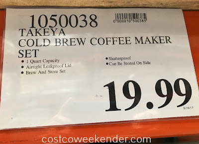 Deal for the Takeya Cold Brew Coffee Maker Brew and Store Set at Costco