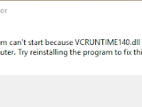 Error vcruntime140.dll is missing when install httpd 2.4 on windows.