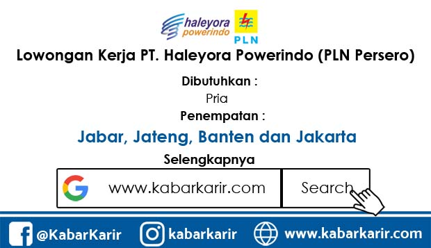 Loker PT. Haleyora Powerindo (PLN Persero)