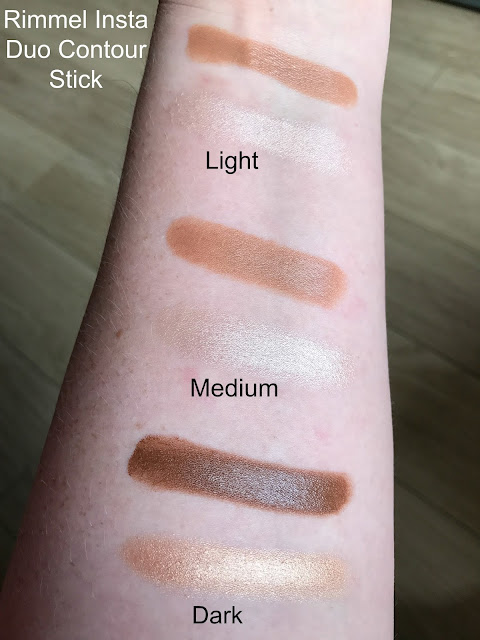 New Rimmel #Insta Makeup Collection Duo Contour Stick Swatches