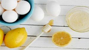 маска для лица с медом, лимоном и яйцом