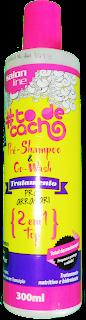 Frasco owash e Pre Shampoo 2 em 1 Top To de cacho da Salon Line (Tratamento pra arrasar)