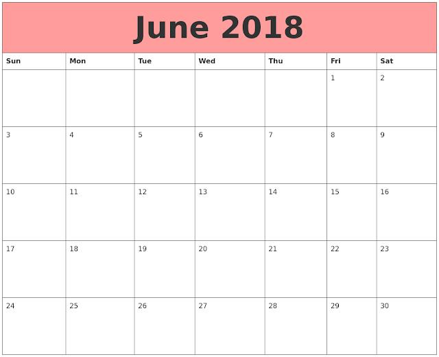 Free June 2018 Calendar, June Calendar 2018, June 2018 Calendar Printable, June 2018 Calendar Template, June 2018 Blank Calendar, June 2018 Calendar PDF, June 2018 Calendar Excel, June 2018 Calendar Word, June 2018 Calendar Holidays