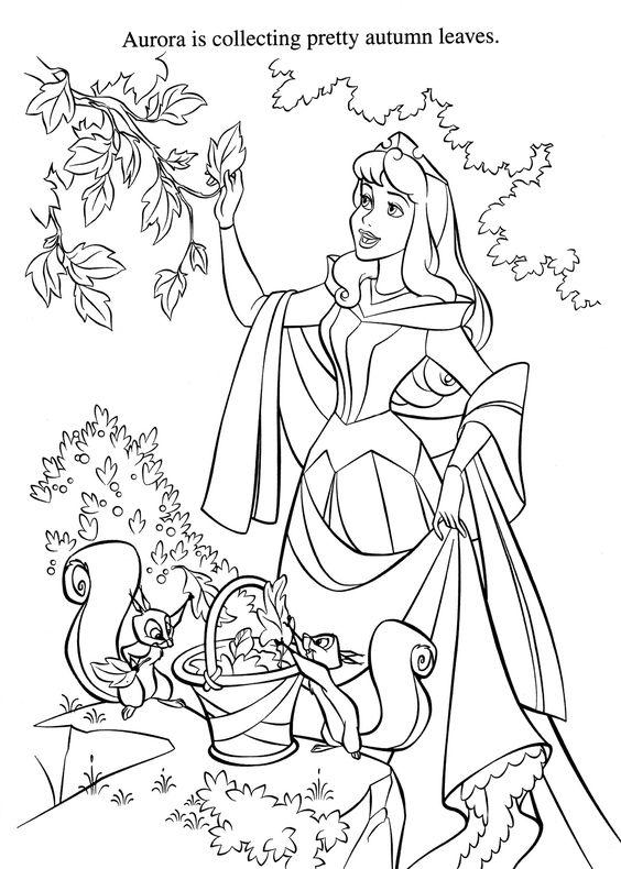 Tranh tô màu nàng công chúa ngủ trong rừng 2