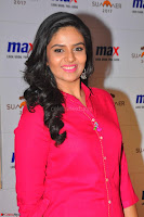 Sree Mukhi in Pink Kurti looks beautiful at Meet and Greet Session at Max Store (32).JPG