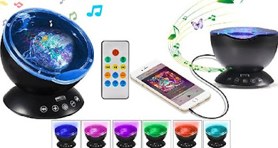 Totobay Multicolor Nightlight Projector - Colorful LED Lights with Music Player