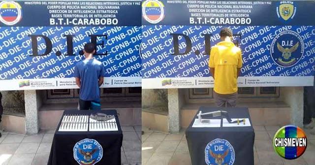 Un muerto y dos detenidos con balas y armas en Carabobo