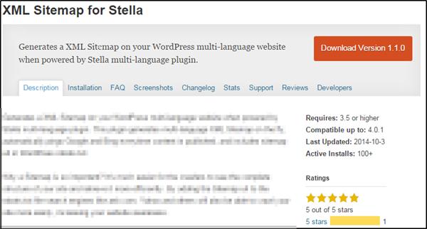 XML Sitemap for Stella