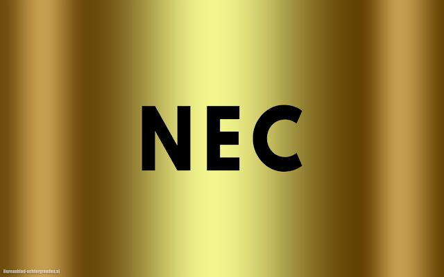 Gouden NEC wallpaper
