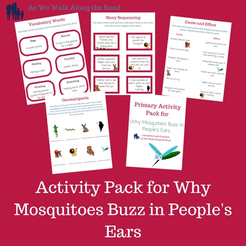 Free printable activities for why mosquitoes buzz in peoples ears