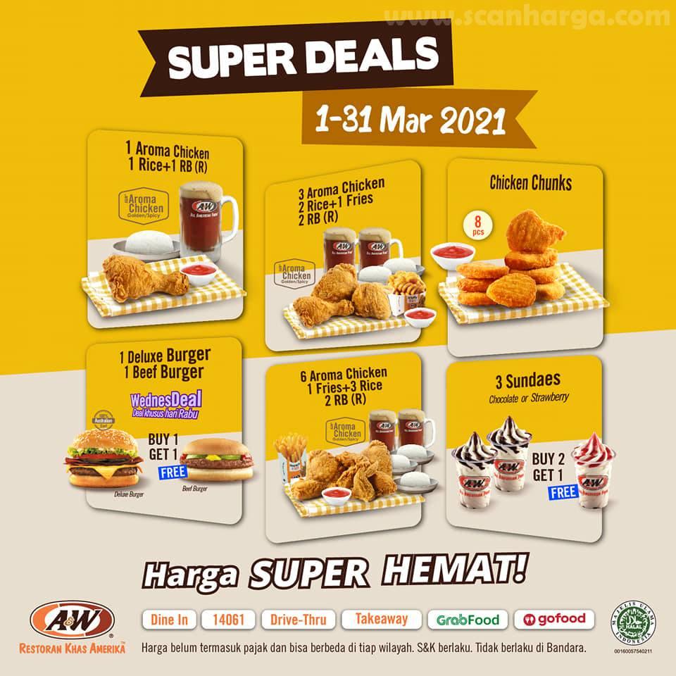 Promo AW Restoran Super Deal 1 - 31 Maret 2021
