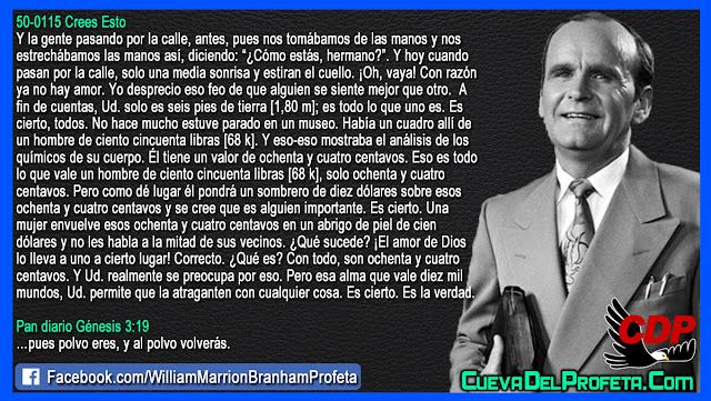 84 centavos VS 10 Mil mundos - William Branham en Español