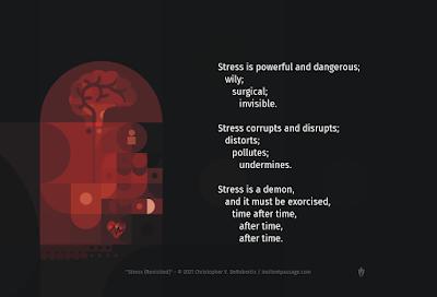 Stress (Revisited) Copyright 2021 Christopher V. DeRobertis. All rights reserved. insilentpassage.com