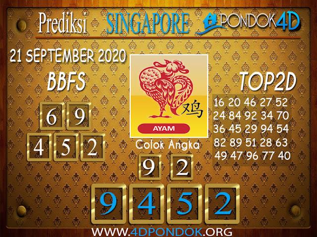 Prediksi Togel SINGAPORE PONDOK4D 21 SEPTEMBER 2020