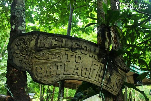 Batlag Falls welcome signage
