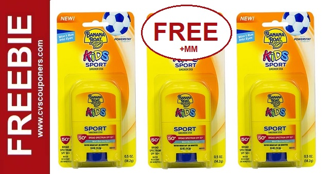 FREE Banana Boat Sunscreen CVS Deals