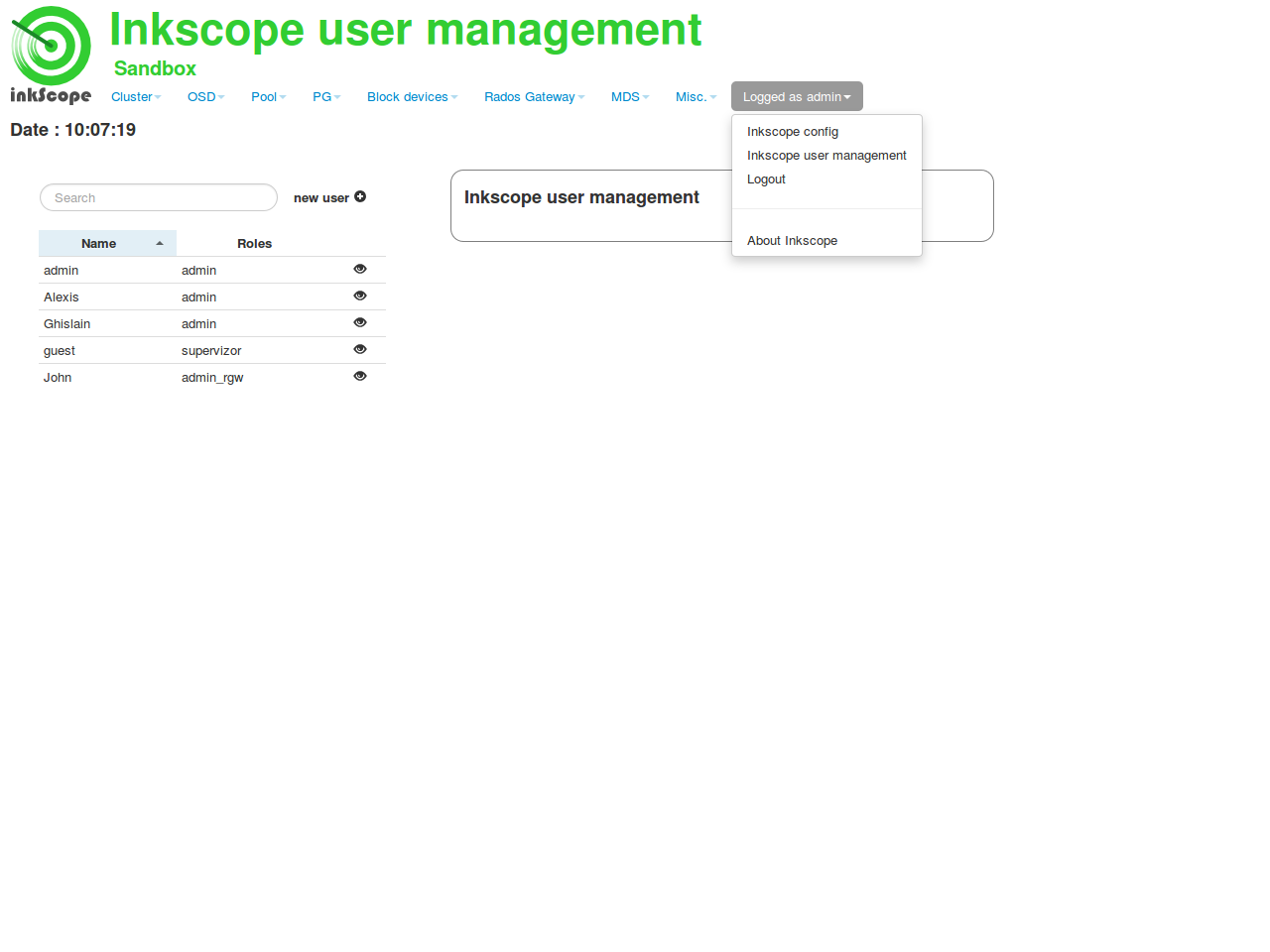 inkScope and ceph: Inkscope V1 3 is available