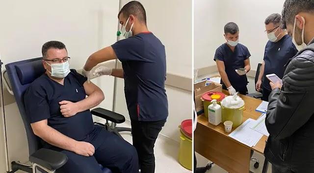 Başhekim Aksoy, ikinci doz aşısını oldu